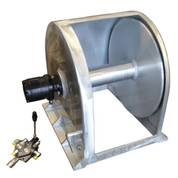 Kolstrand 24 Inch Aluminum Anchor Winch - With 24 In Diameter X 14 In Wide Drum - Model AKPAAW24D1420W  with Control Valve