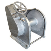 "InMac-Kolstrand Steel Galvanized - Single Reduction - 26 Inch Anchor Winch - With 26"" Diameter Drum X 20"" Wide - Model AKPHRW26D20W"