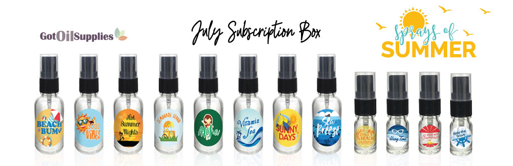 Essential Oil Sprays of Summer Subscription Box