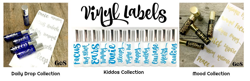 Essential Oil Vinyl Labels