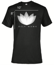 Women's Black Oily Mama Short Sleeve Essential Oil T-Shirt