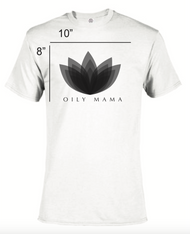 Women's White Oily Mama Short Sleeve Essential Oil T-Shirt