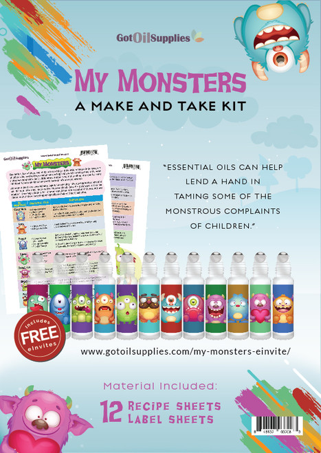 My Monsters Essential Oil Make And Take Workshop Kit For Kids