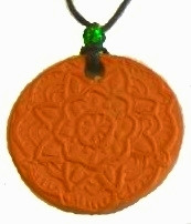 Mandala Circle Terracotta Necklace