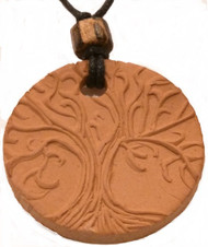 Tree Of Life Terracotta Necklace For Essential Oils