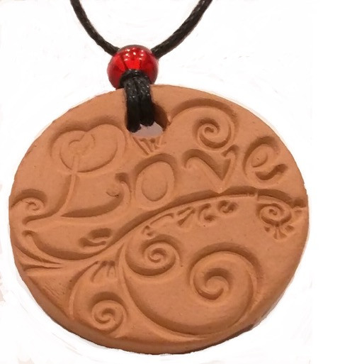 Love Terracotta Necklace For Essential Oils