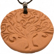 Tree Of Life Car Diffuser Terracotta Pendant For Essential Oil Aromatherapy
