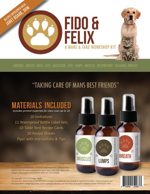 Fido And Felix Make And Take Essential Oil Workshop Kit