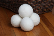 100% Premium Wool Dryer Balls, Natural White, Organic Fabric Softener, Reusable, Laundry Ball