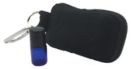 Black Keychain Essential Oil Carrying Case With 8 2ml Blue Rollerball Sample Vials