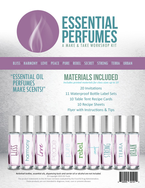 Essential Oil Perfumes Make Amp Take Workshop Kit For