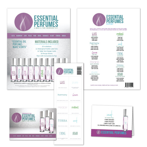 Essential Oil Perfumes Make & Take Workshop Kit For Homemade DIY Perfume Scents