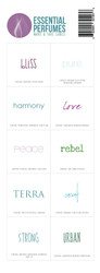 Essential Oil Perfumes Make and Take Workshop Kit Complete Label Sheet