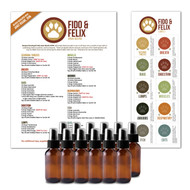 Fido and felix make and take essential oil workshop kit for cats fido and felix do it yourself essential oil workshop kit for pets cats and dogs solutioingenieria Choice Image