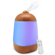 SpaMist Wood Grain Ultrasonic Essential Oil Aromatherapy Diffuser With Remote