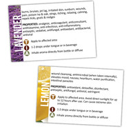 Road Trip Travel Kit Essential Oil Usage Information Cards