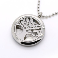 Aroma Jewelry Tree Of Life Essential Oil Diffusing Locket Pendant Necklace For Aromatherapy