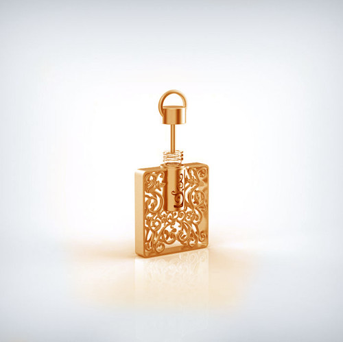 Aroma jewelry gold square refillable essential oil perfume pendant aroma jewelry gold square refillable essential oil perfume pendant necklace for aromatherapy aloadofball Image collections