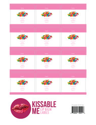 Kissable Me Bubbly Essential Oil Lip Balm Labels