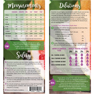 Essential Oil Dilutions, Measurements and Safety Rack Cards