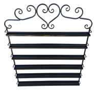 Black Metal Display Wall Rack With 6 Tiers For Essential Oil Containers