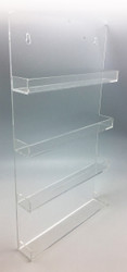 Clear Acrylic Essential Oil Bottle Wall Display Rack With 4 Tiers