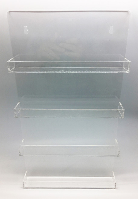 Clear Acrylic Essential Oil Bottle Wall Display Rack With