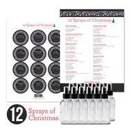 12 Sprays of Christmas Essential Oil Personal DIY Kit