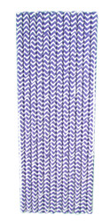 Purple Chevron Paper Party Straws For Essential Oil Parties & Make and Take Workshops