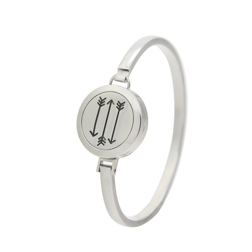 Silver Arrows Essential Oil Diffuser Stainless Steel Bracelet For Aromatherapy