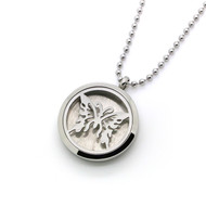 Aroma Jewelry Butterfly Essential Oil Diffusing Locket Pendant Necklace For Aromatherapy
