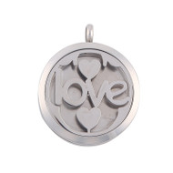 Aroma Jewelry Love Essential Oil Diffusing Locket Pendant Necklace For Aromatherapy