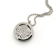 Aroma Jewelry Maple Leaf Essential Oil Diffusing Locket Pendant Necklace For Aromatherapy