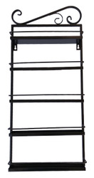 Black Metal Display Wall Rack With 5 Tiers For Essential Oil Containers
