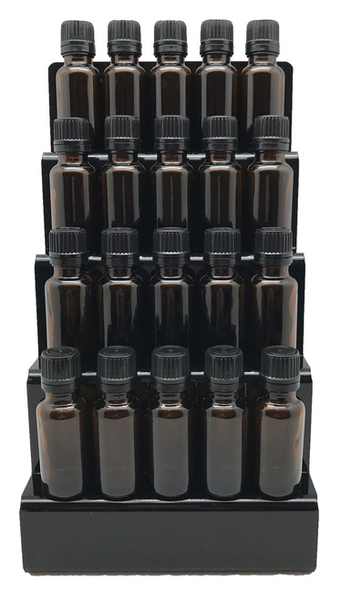 Black Essential Oil Counter Top 4 Tier Display Acrylic
