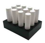 Black Essential Oil Lip Balm Tube Tray