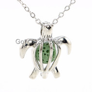 Green Sea Turtle Lava Jewelry Essential Oil Necklace For Aromatherapy