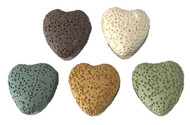 Heart Assorted Lava Stone For Essential Oil Jewelry