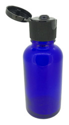 30 ml Cobalt Blue Boston Round Glass Essential Oil Bottles with Flip Caps