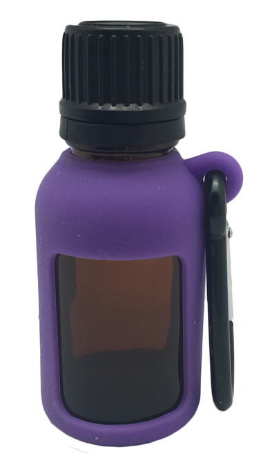 Purple Silicone Sleeve Holder For 15ml Boston Round Essential Oil Bottles