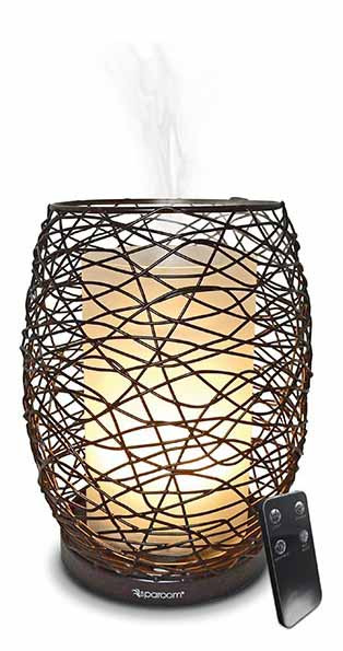 Enlighten Essential Oil Diffuser With Remote Control Operation For Aroma Therapy