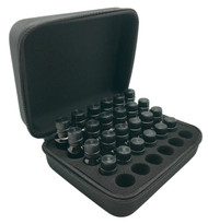 Hard Black Essential Oil Carrying Case With Handle & Foam Insert