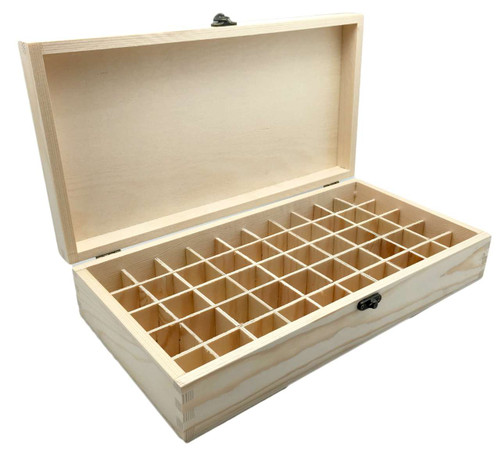 Large Natural Pine Wood Essential Oil Box For 50 EO Bottles