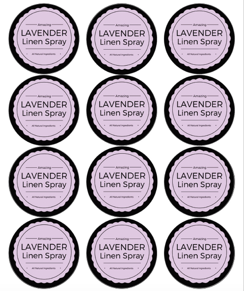 Lavender Linen Spray Template