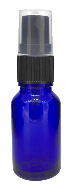 15 ml Boston Round Glass Blue Essential Oil Bottles with Spray Caps