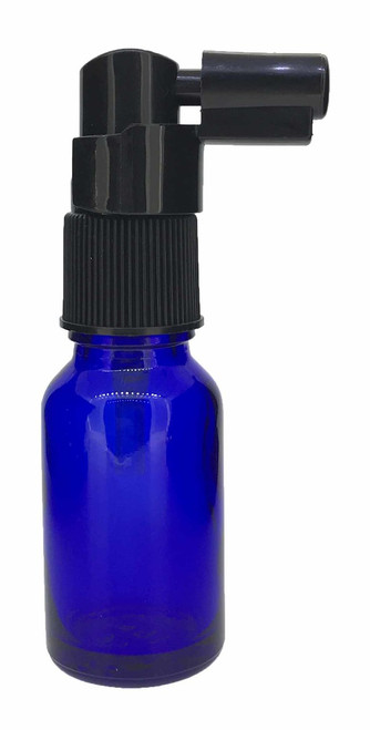 15 ml Boston Round Glass Cobalt Blue Essential Oil Bottles with Throat Spray Caps