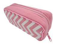 Light Pink Chevron Essential Oil Travel Bag