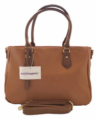 Polly | Brown Essential Oil Designer Purse with Gold Hardware