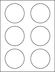 "6 3"" Blank White Circle Labels"