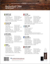 Rollerball Men Essential Oil Recipe Sheets